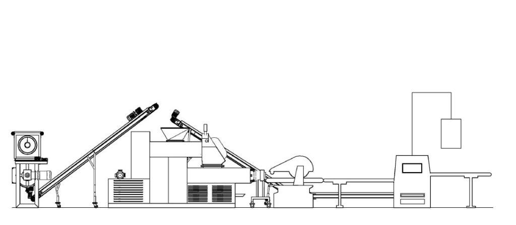 Esquema de línea de acabado - Construcción de una fábrica de pastillas de jabón