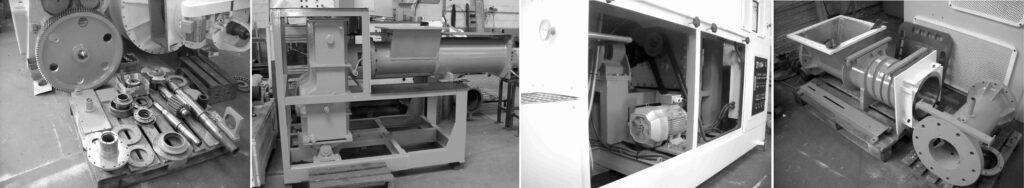 Piezas de compresora reacondicionada y reconstruida - Etapa de refinado y extrusión - Línea de acabado de una fábrica de pastillas de jabón