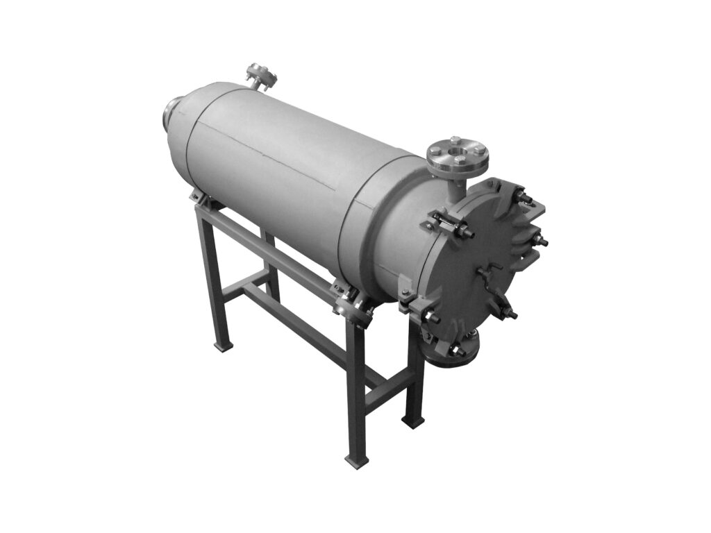 Soap filter for the soap drying plant to filter liquid soap