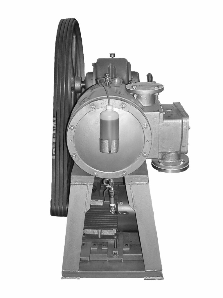 Vacuum pump for soap drying plant to use in the steam condensation step
