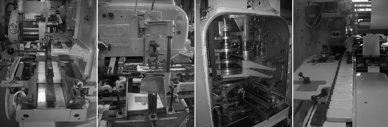 Soap wrapper parts overhauled and rebuilt - Wrapping process - Soap finishing line