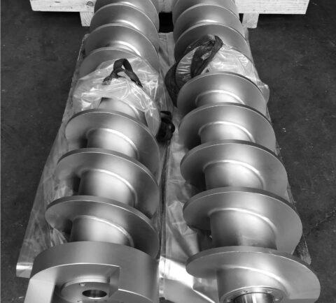 Hélice para Compresora de Jabón en Pastilla - Proceso de extrusión y refinación